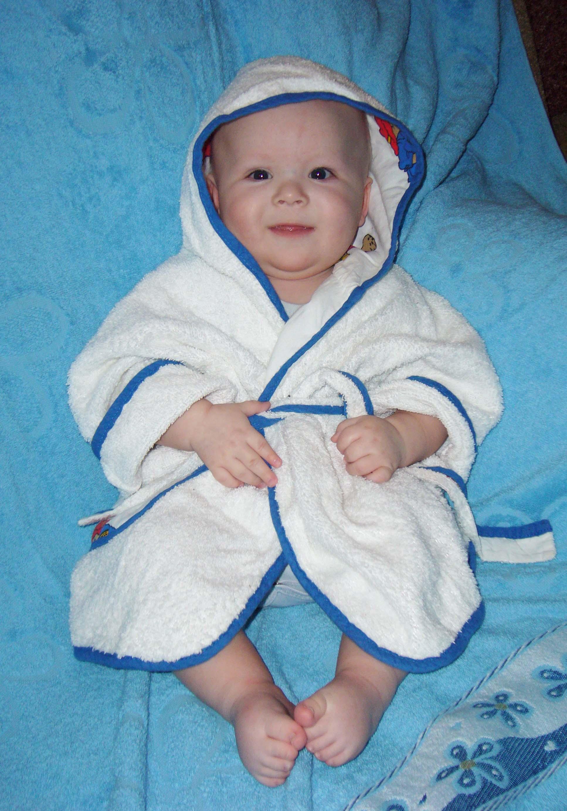 После ванны. Малыш на обложку