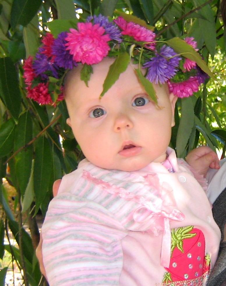 Осенний цветочек. Малыш на обложку
