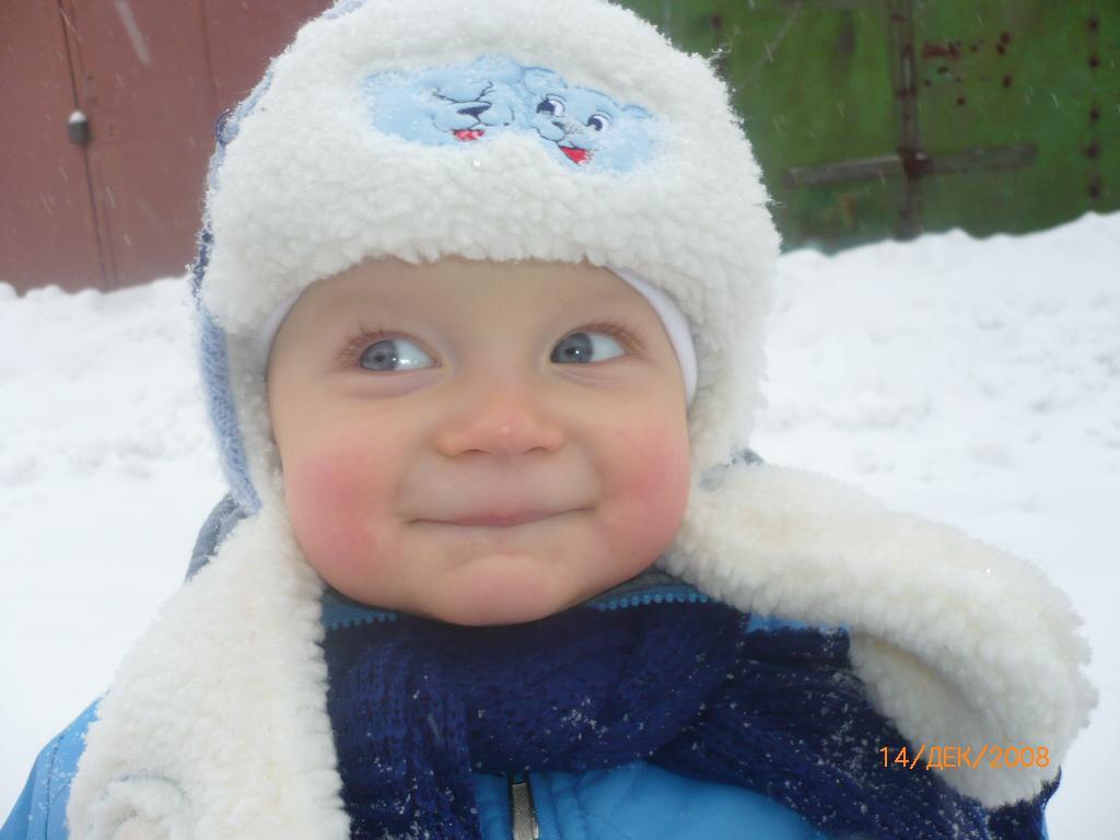 Я мороза не боюсь, если надо - улыбнусь!. Малыш на обложку
