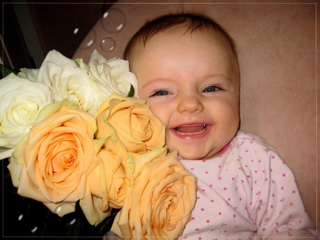 Катенька-цветочек. Малыш на обложку