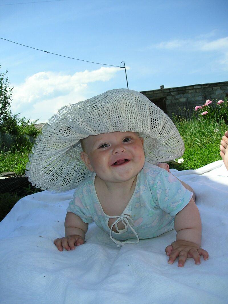 Дама в шляпке.. Малыш на обложку