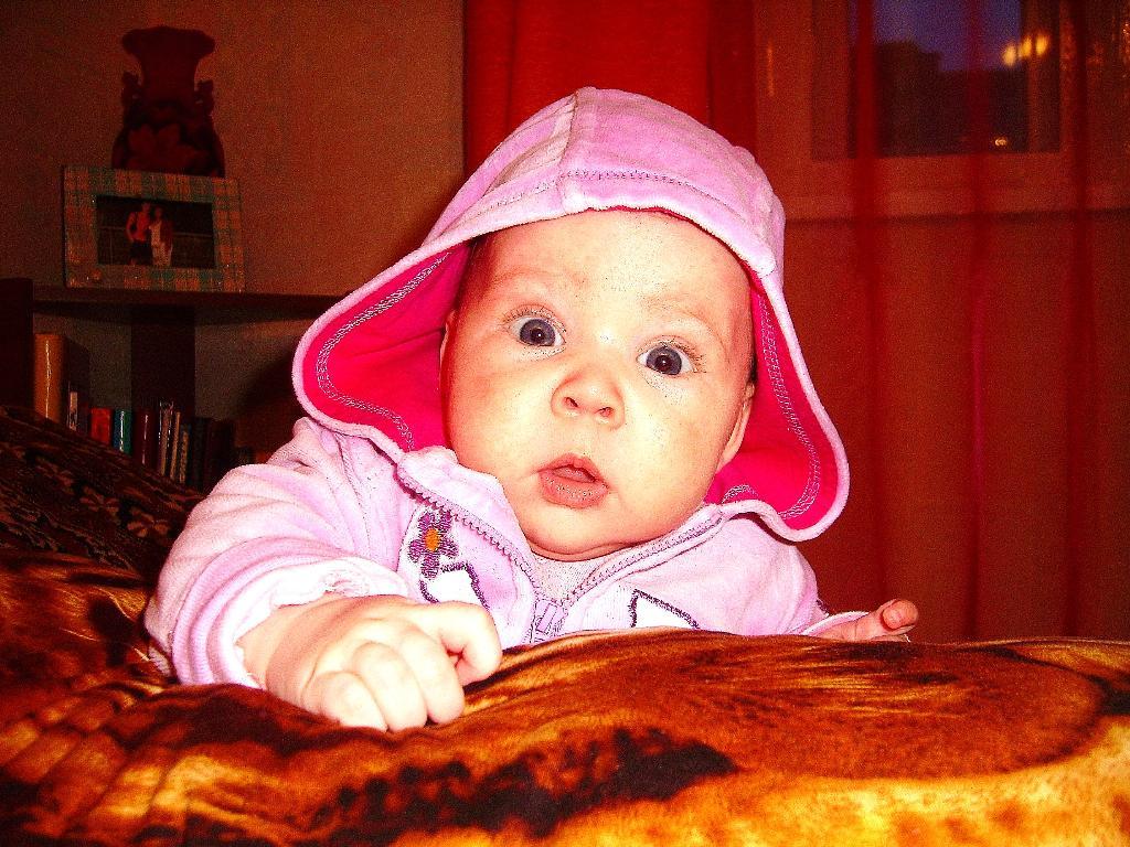 Полине 3 месяца. Малыш на обложку