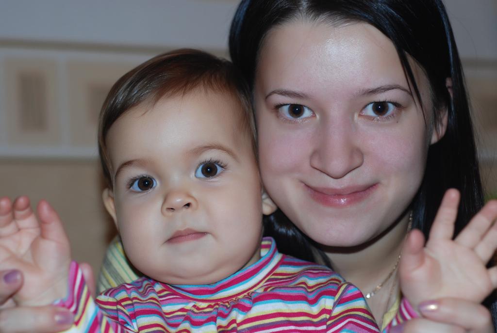 Я с Лизой. Мадонна с младенцем