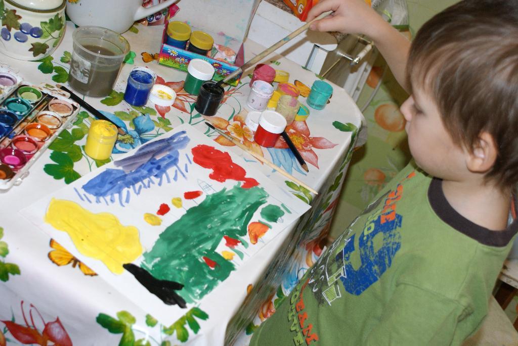 5-ти летний художник. Я рисую