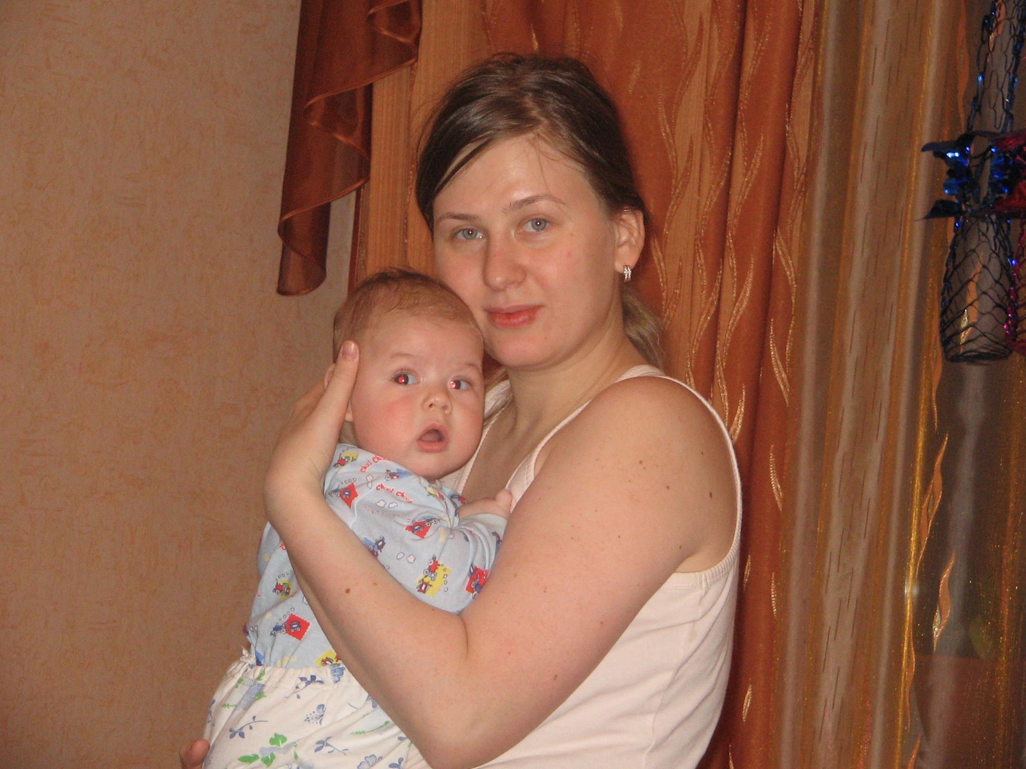 Мама и Колюша. Мадонна с младенцем