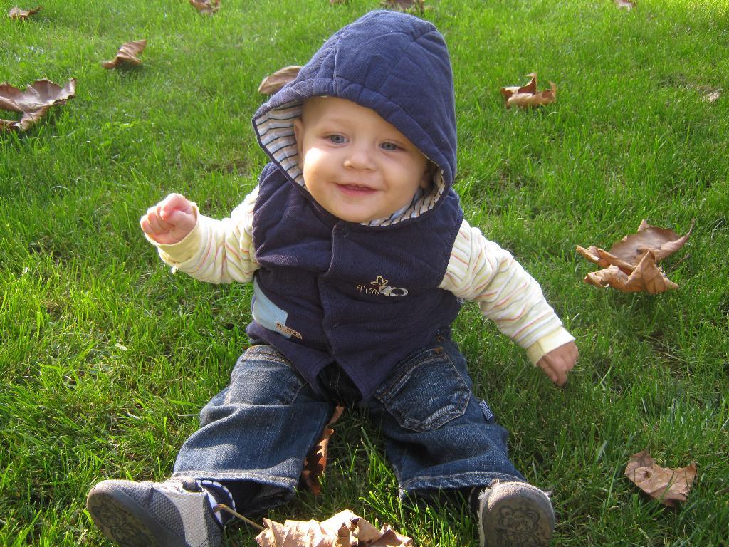 Осень наступила...... Малыш на обложку