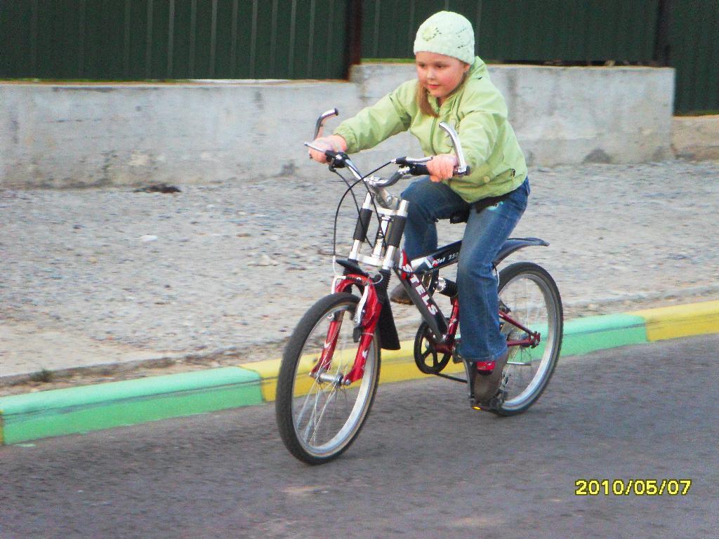 Освоение нового велосипеда проходит успешно!!!. Укрощение велосипеда
