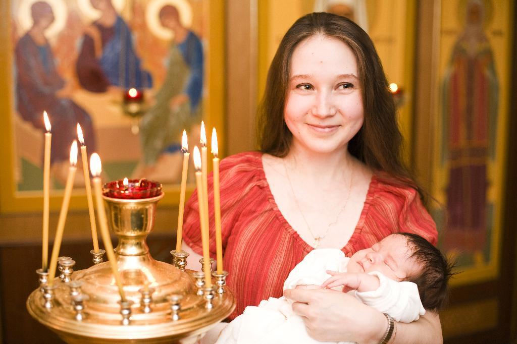 Свечечка моя.... Мадонна с младенцем