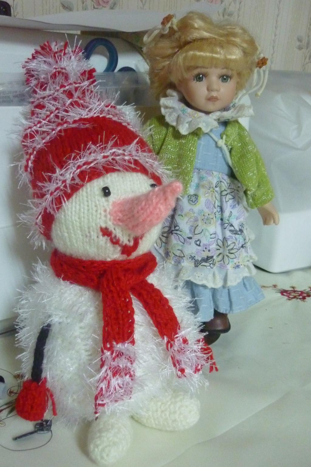Снеговик. Вязаные игрушки