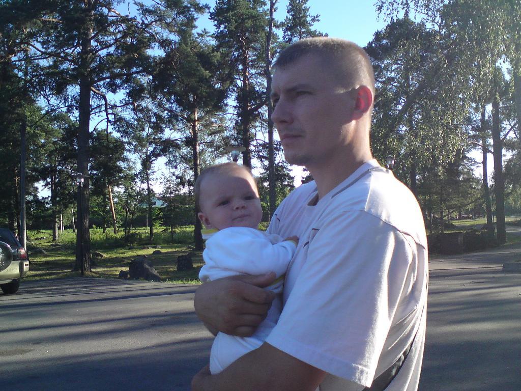 Папа и я . Вместе с папой