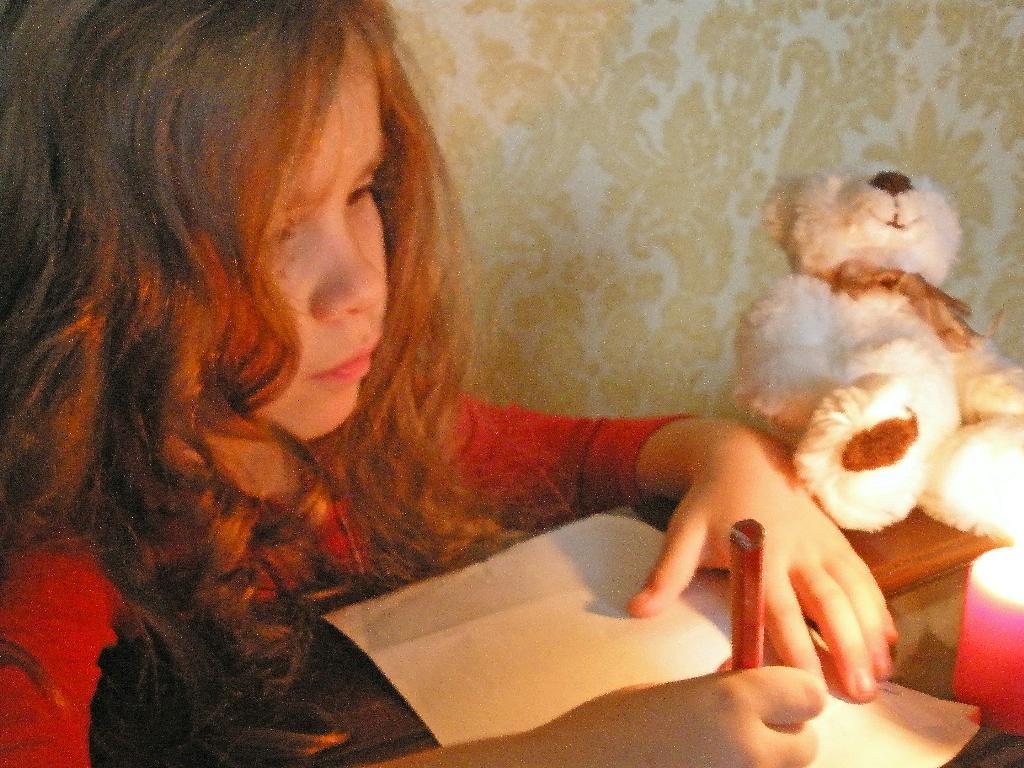 Однажды зимним вечером.... Пишу письмо Деду Морозу