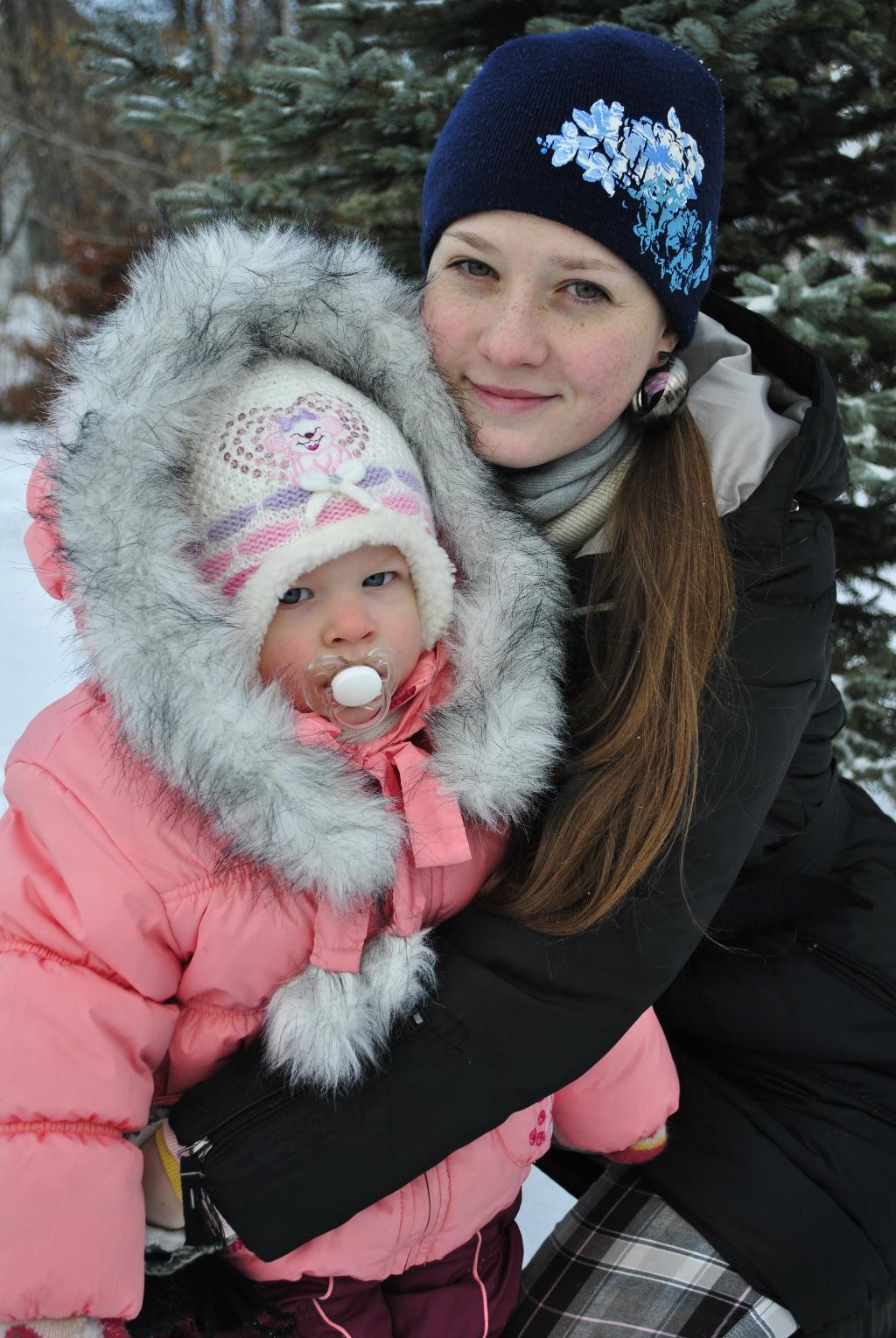 Зимняя сказка =). С мамой на прогулке