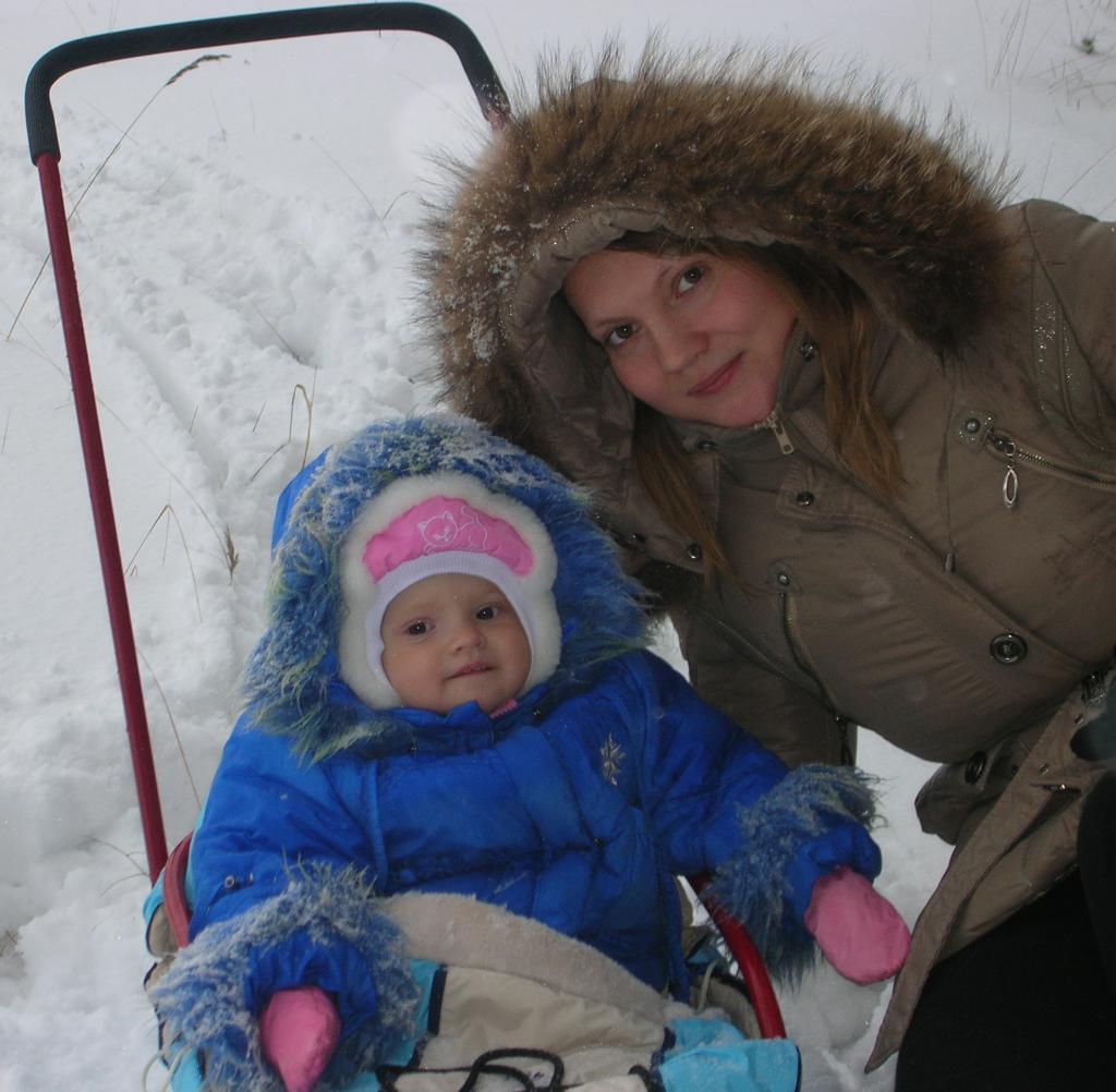 Зимняя прогулка по лесу. С мамой на прогулке