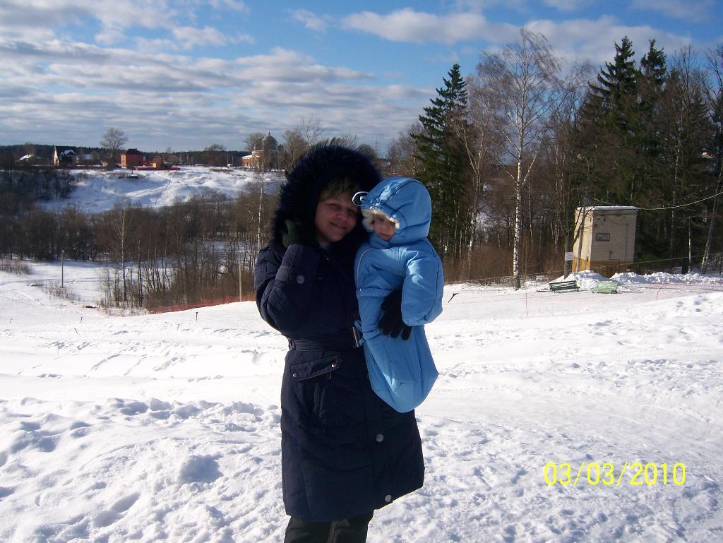 Зимняя прогулка. С мамой на прогулке