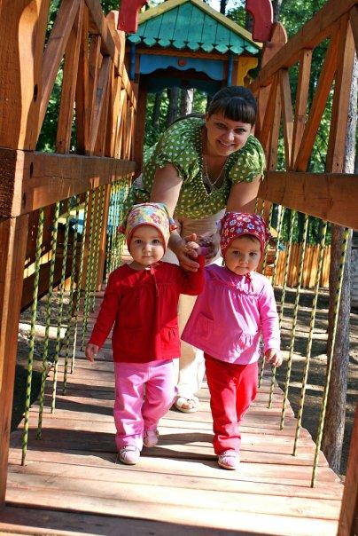 На детской площадке. С мамой на прогулке