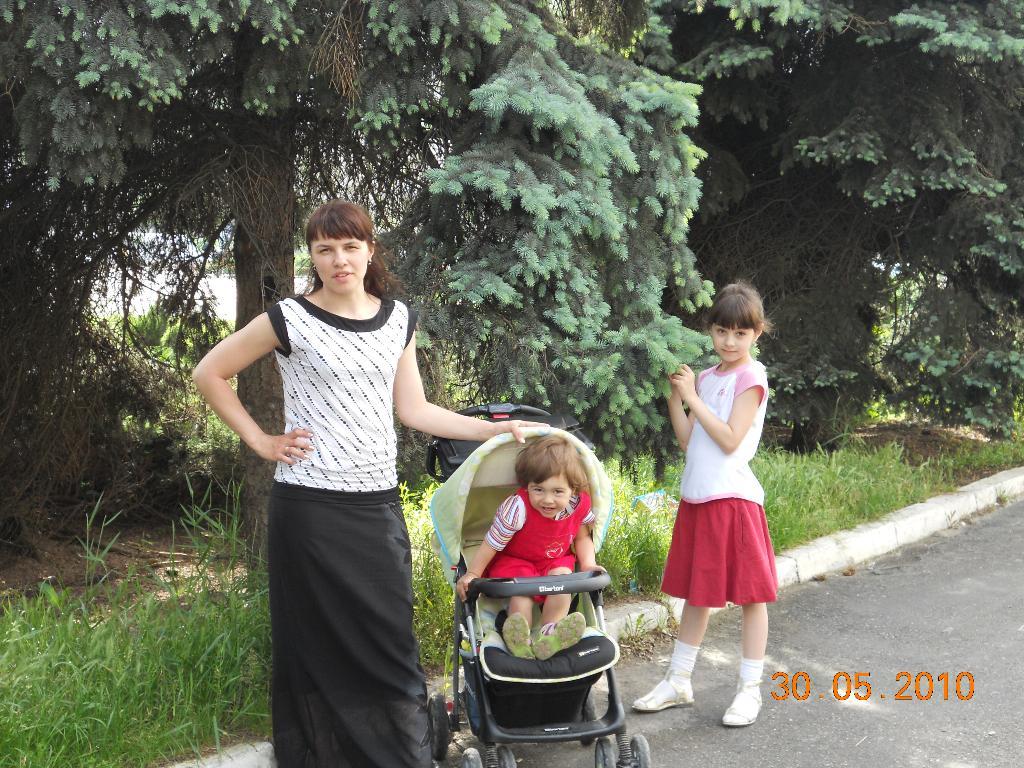 На прогулке. С мамой на прогулке
