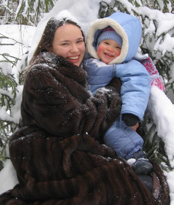 Снеговики. С мамой на прогулке