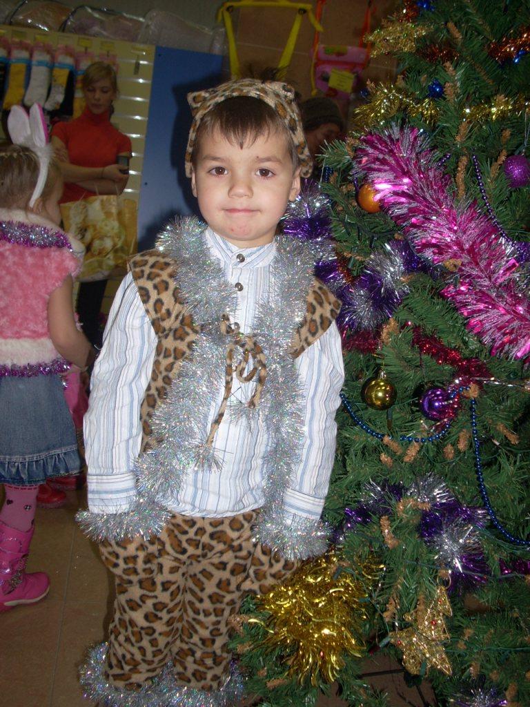 Леопард на празднике. Новогодний карнавал