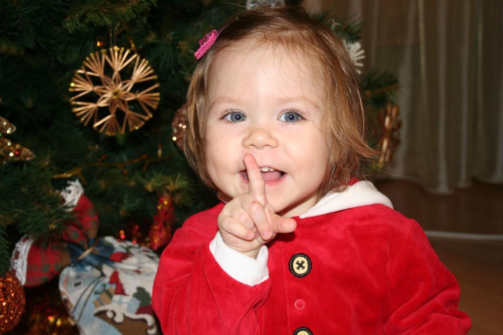 Тише, тише... я дедушку караулю с подарочками. Встречаем Новый год