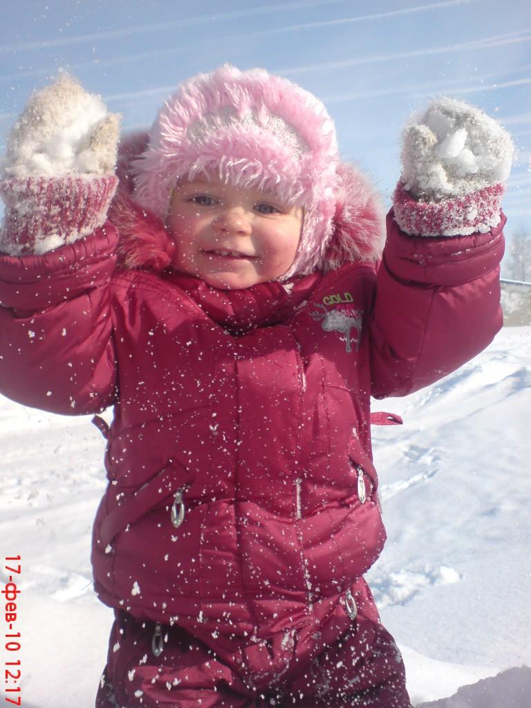 Снежная радость.. Малыш на обложку