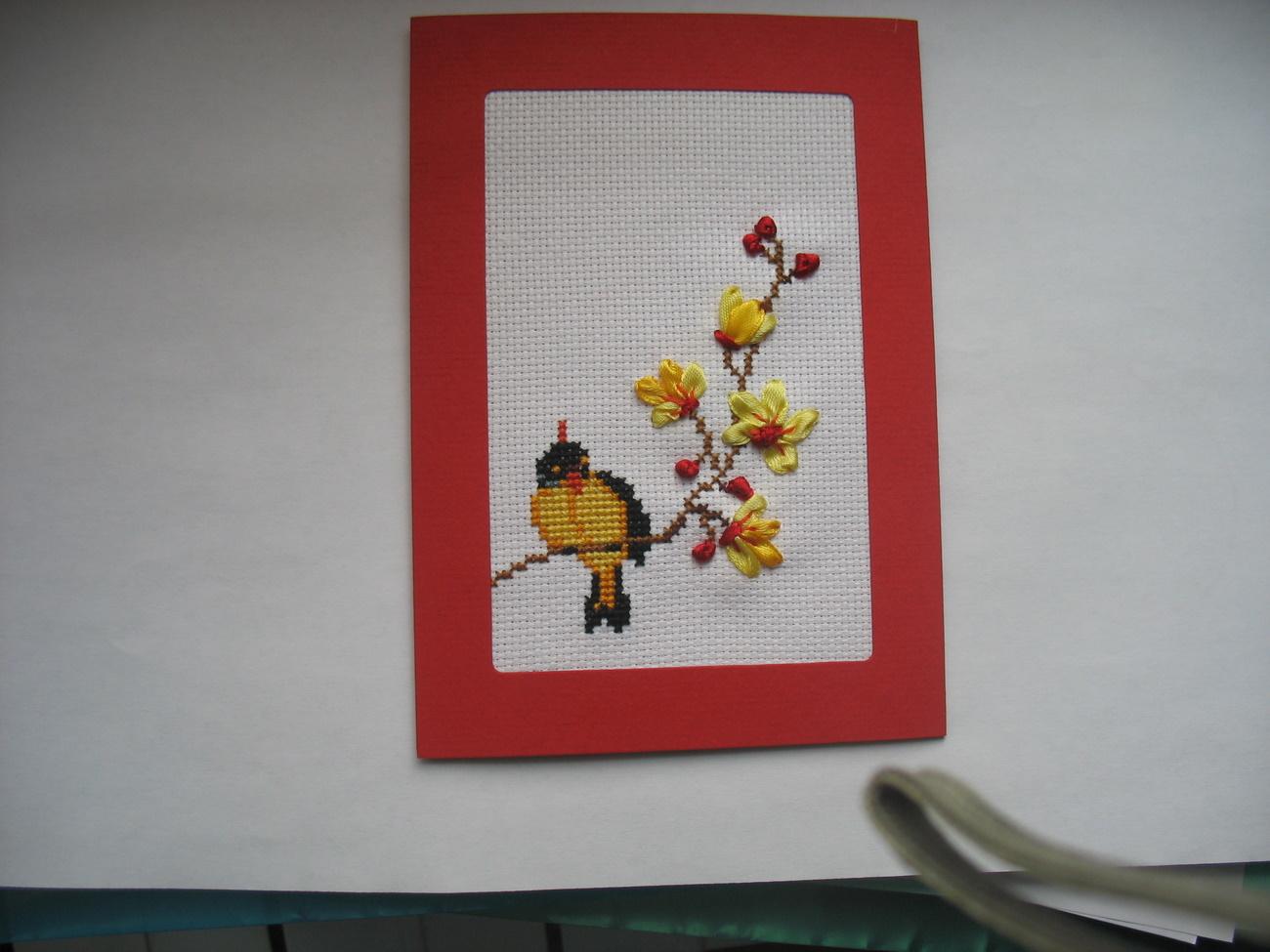 22 - Маруся - Ягуся. 2010 Проект 'Весенняя открытка-вышиваем крестиком'
