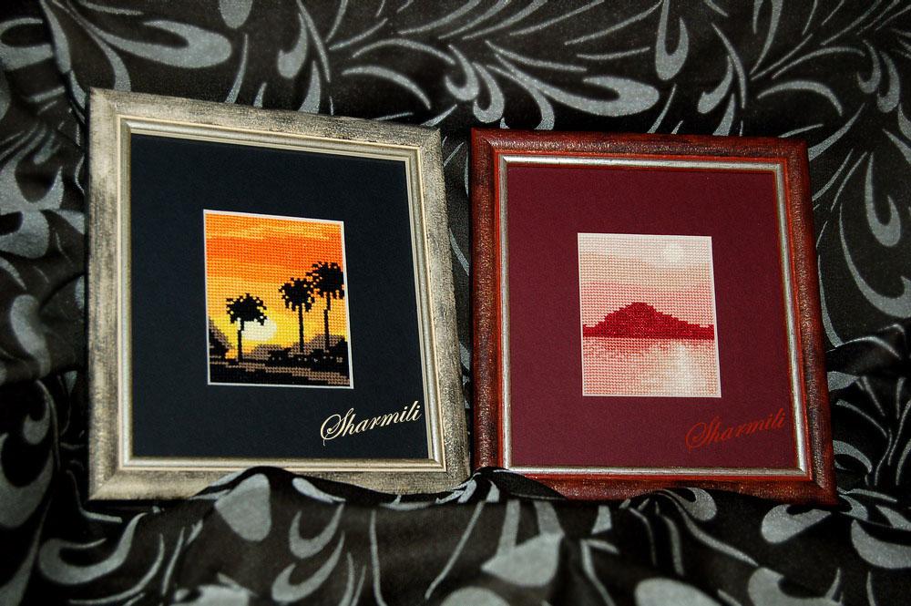 Пальмы и остров. Пейзажи