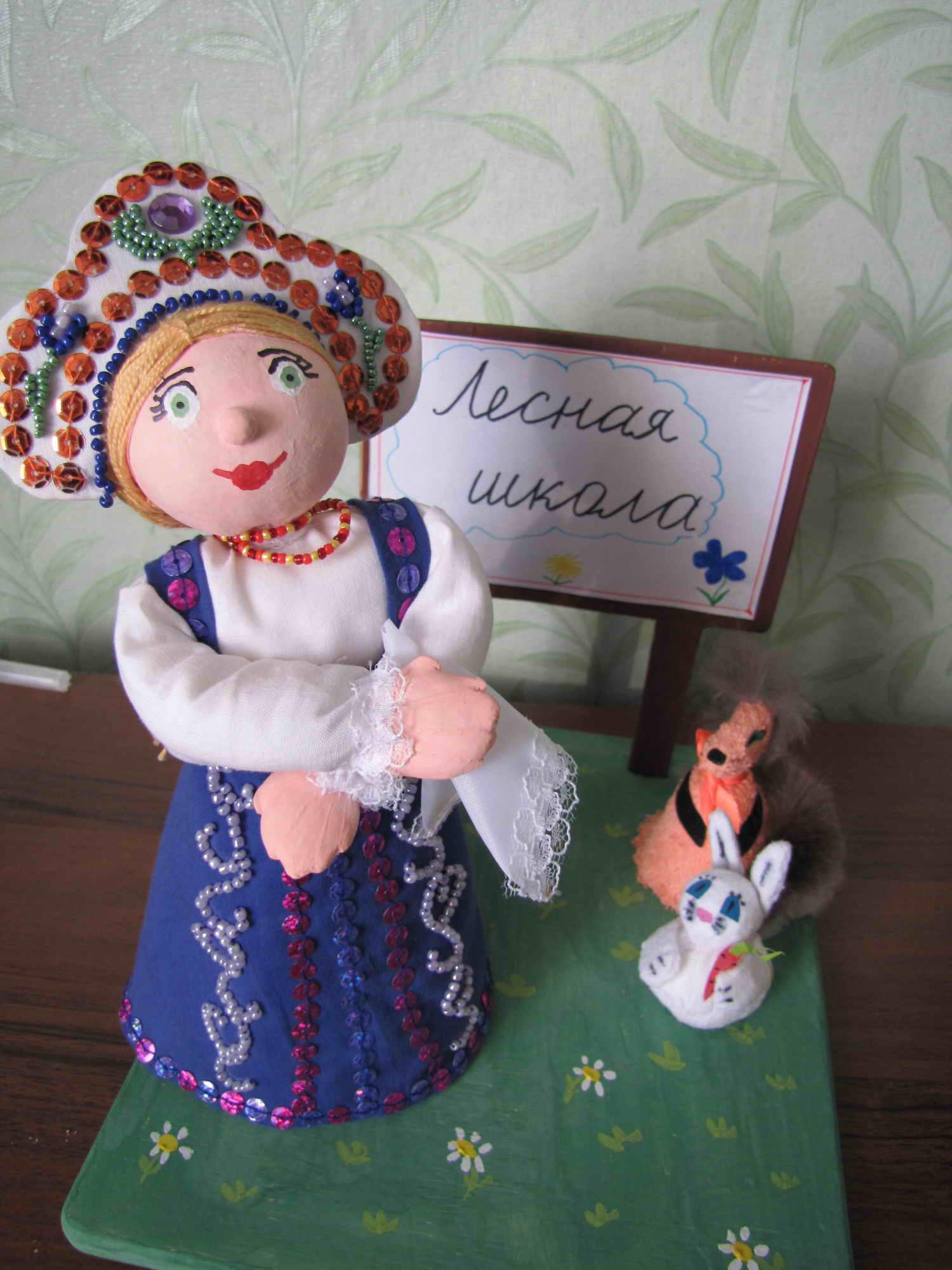 Кукла Василиса. _Работы моей племяшки Танюши Жидковой