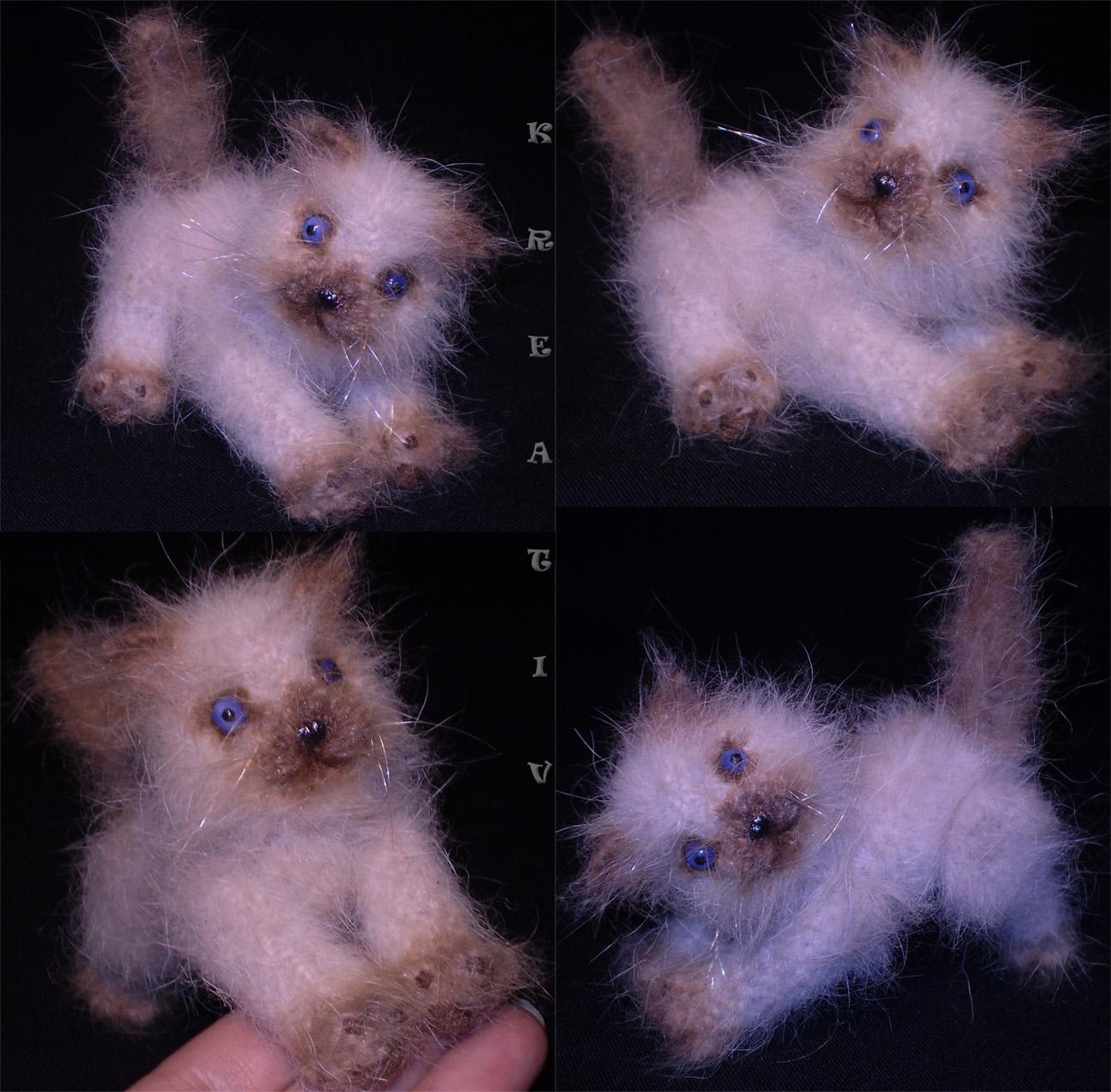 Котик-Фантик.. Вязаные игрушки