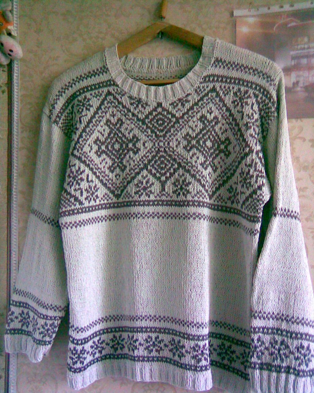 свитер из хлопка. Одежда