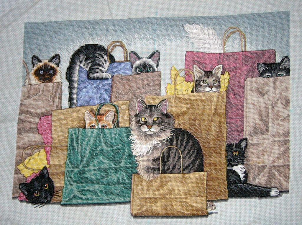 Dimensions 'Коты в сумках'. МОИ ВЫШИВКИ
