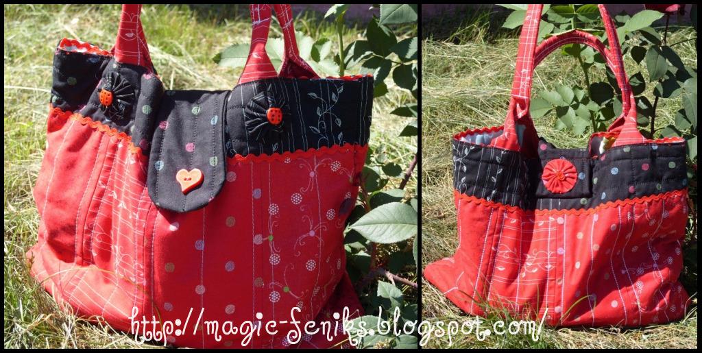 Красная сумка.