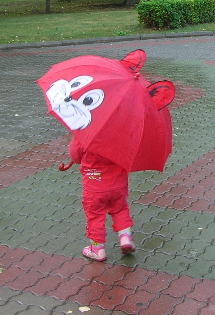 Зонтик с ножками..