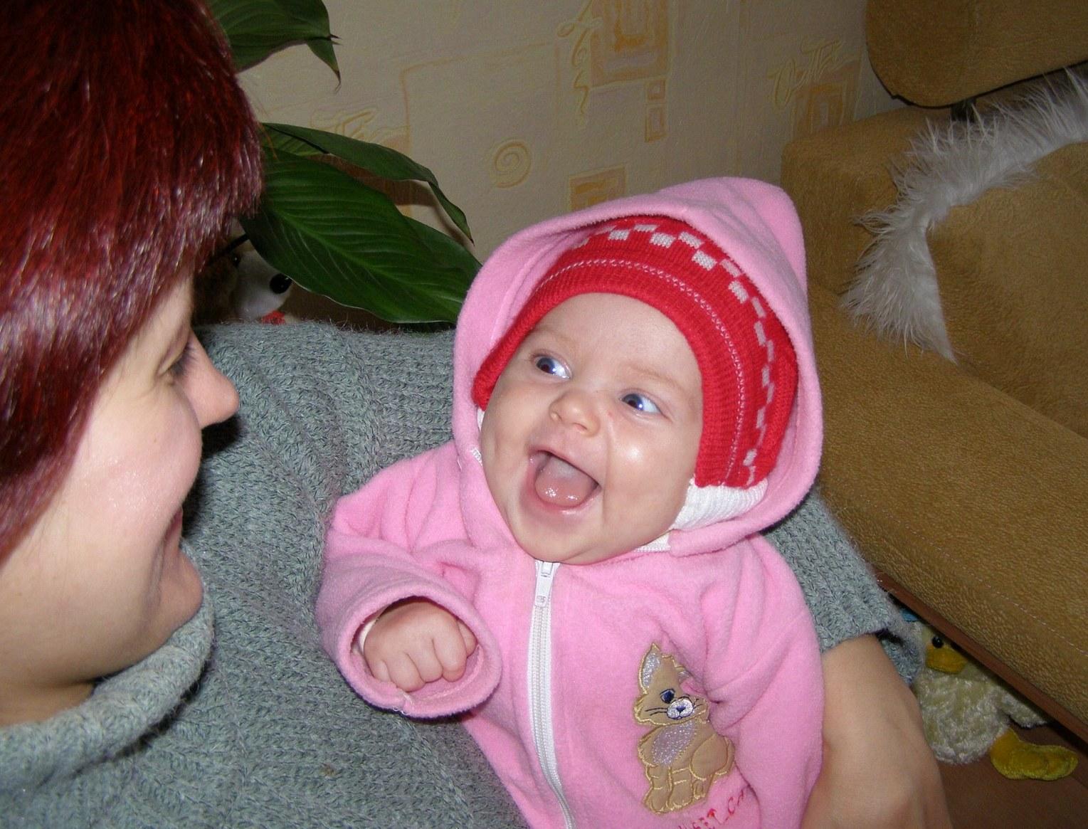 Cамая милая улыбочка для мамочки!. Счастье в маминых руках