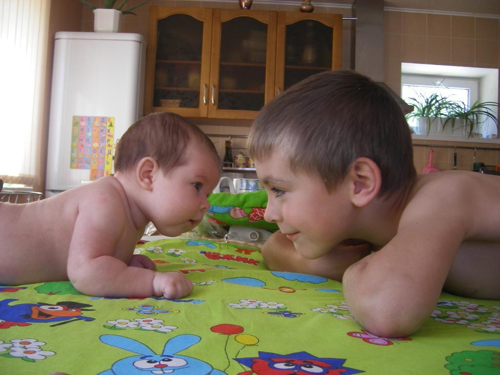 Брат с сестрой очень похожи,.