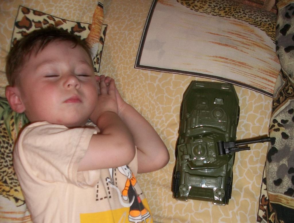 Охраняет сон. Спят усталые игрушки