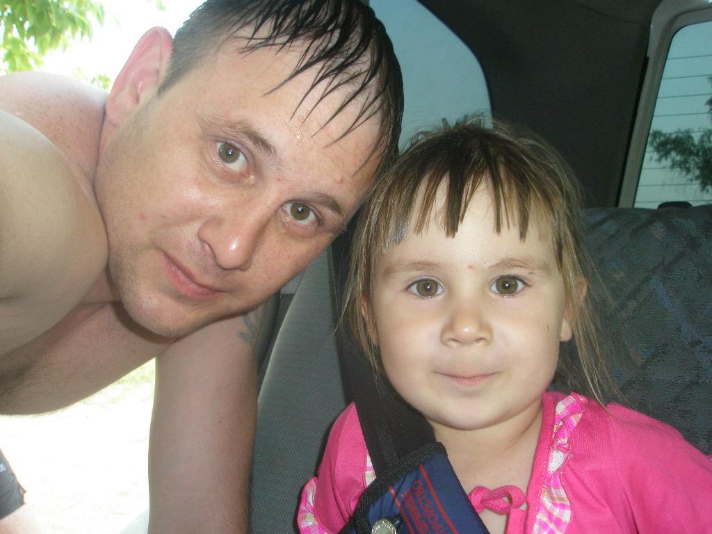 Папа и доча - одно лицо!. Как две капли