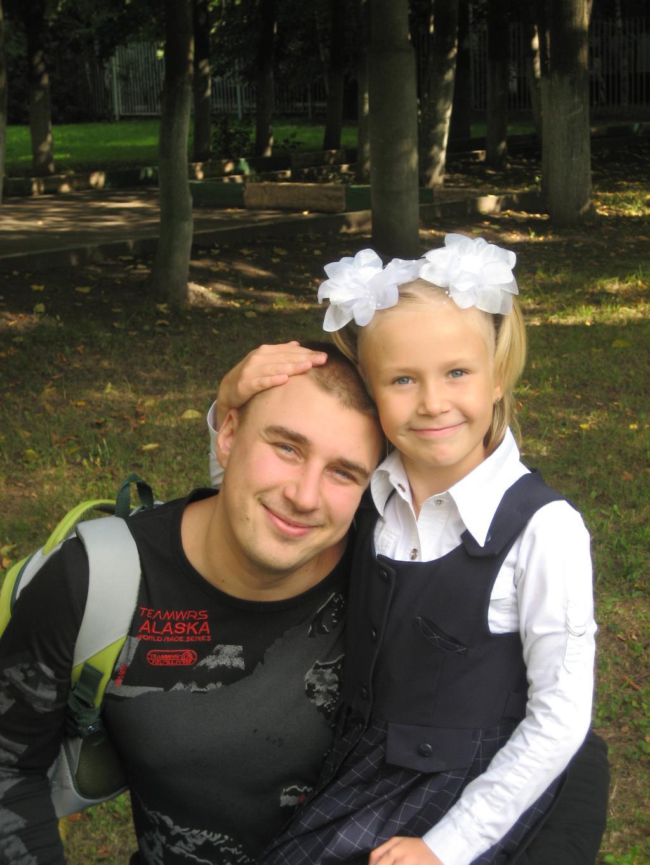 папа с любимой дочкой.