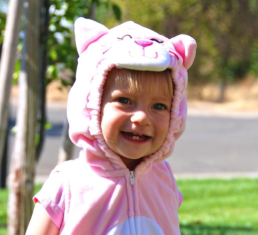 розовый котёнок. Мои первые зубки