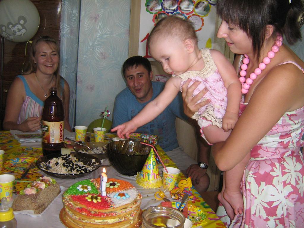 Какой интересный огонек!. Первый День рождения