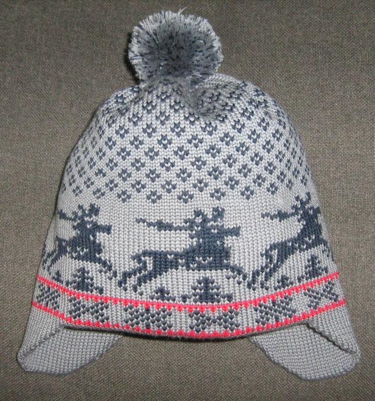 Шапка со скандинавским  рисунком. Шапки, шляпки, панамки и др.  вязаные головные уборы