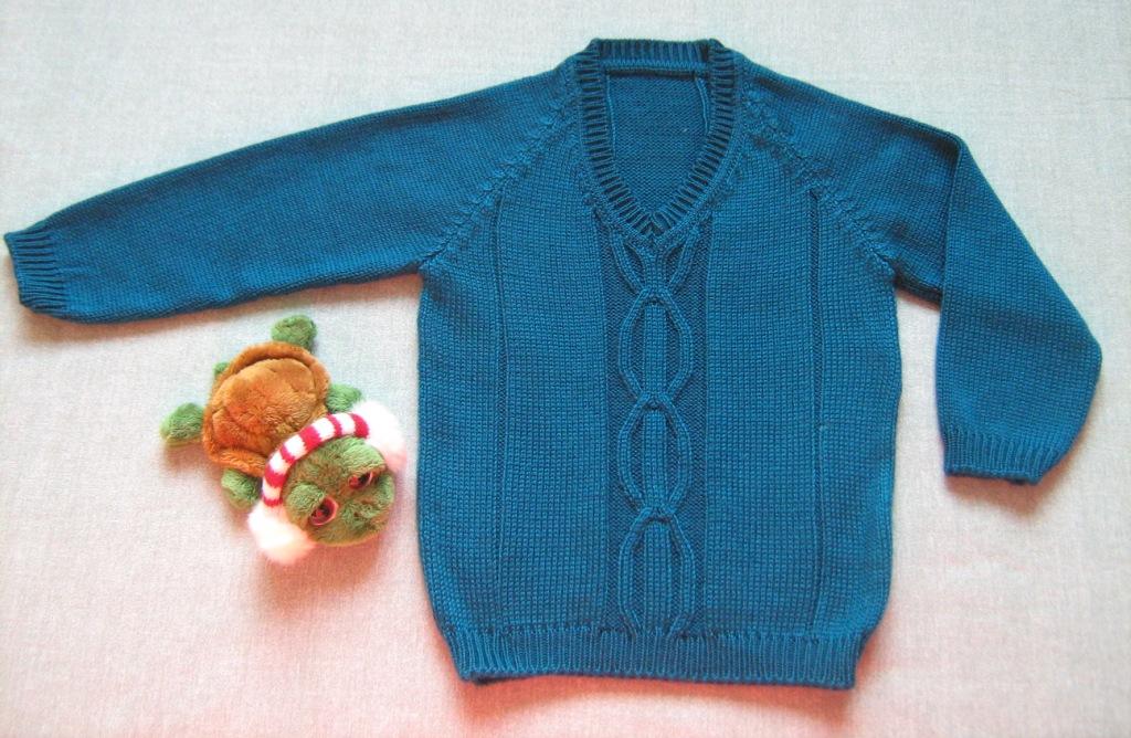 Пуловер с аранами.. Одежда для детей
