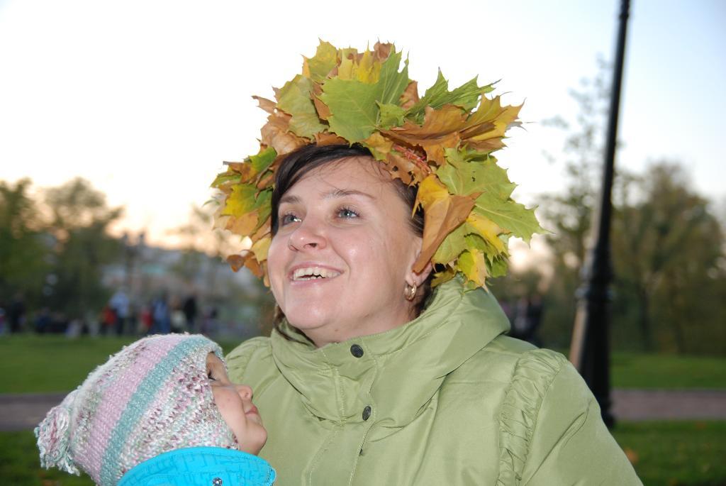 Золотой осенью в Царицыно. С мамой на прогулке