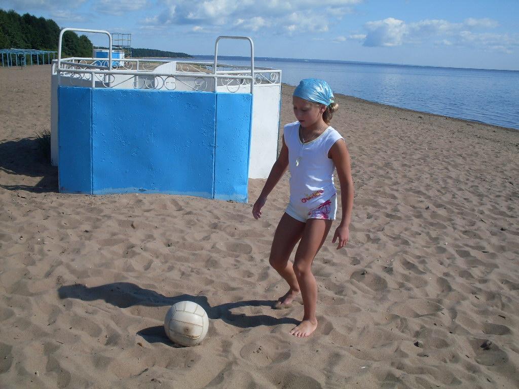Пляжный футбол))). Моя тренировка
