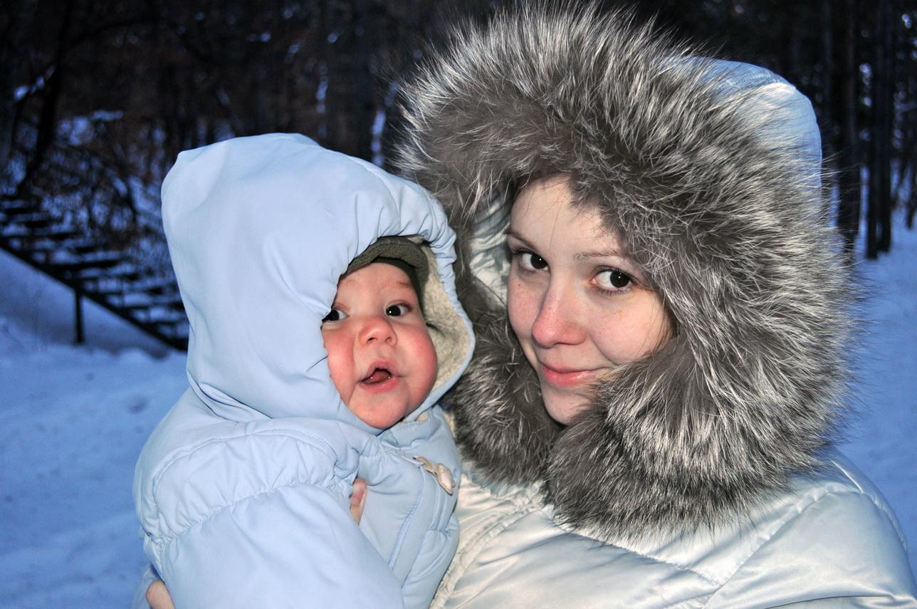 Зимний Лес. С мамой на прогулке