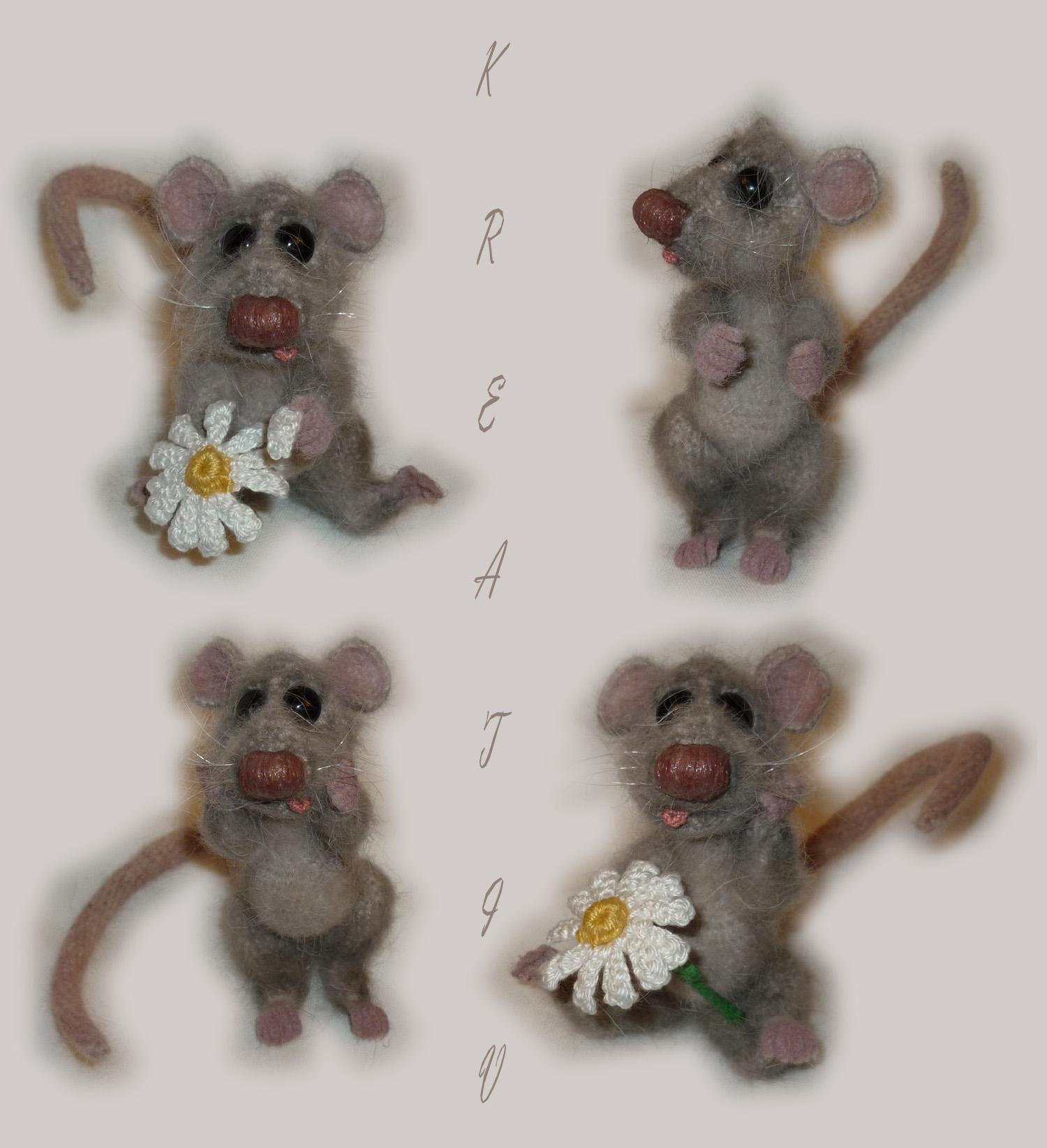 Крыс.. Вязаные игрушки