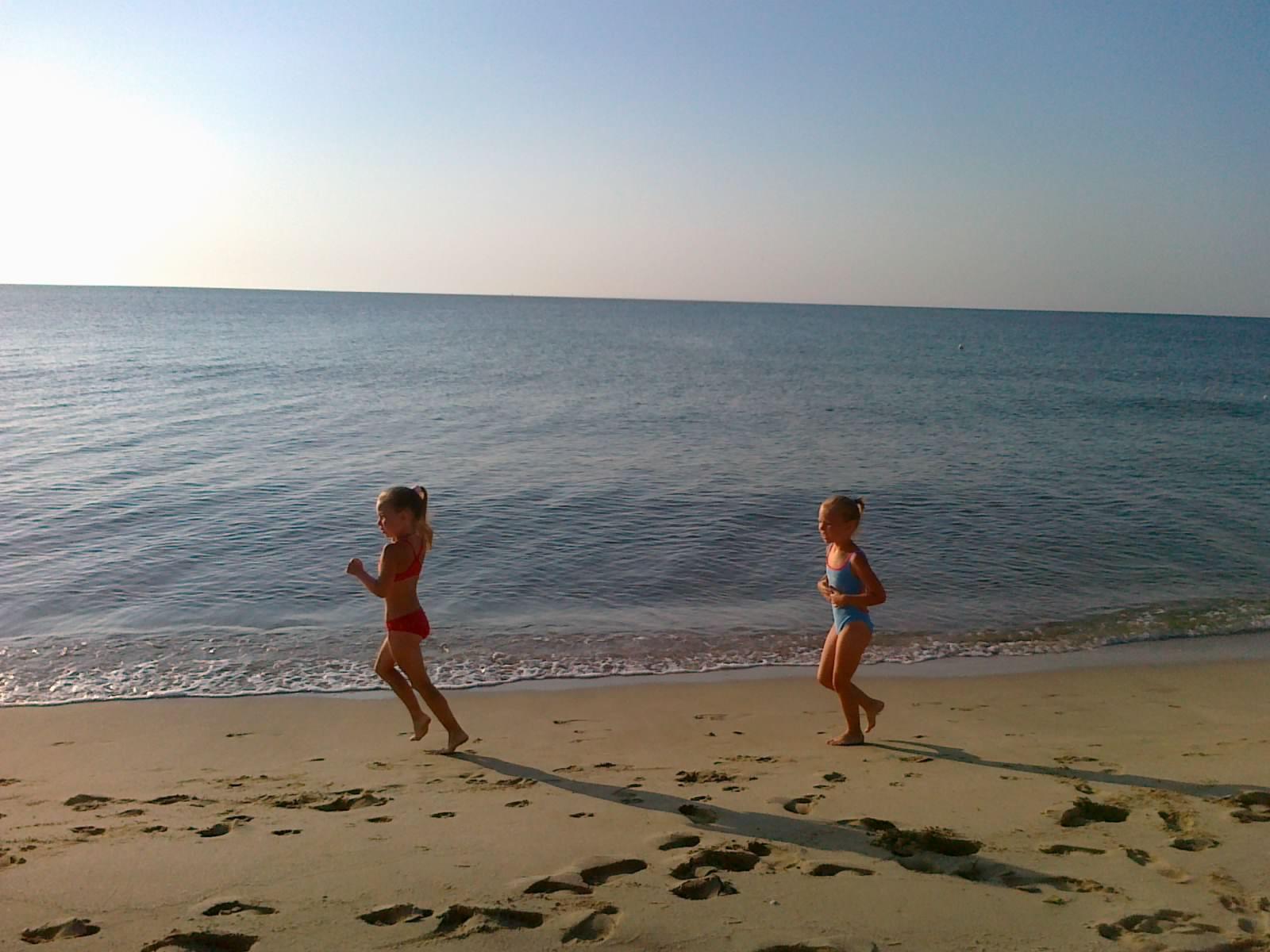 Утренняя тренировка на пляже. Моя тренировка