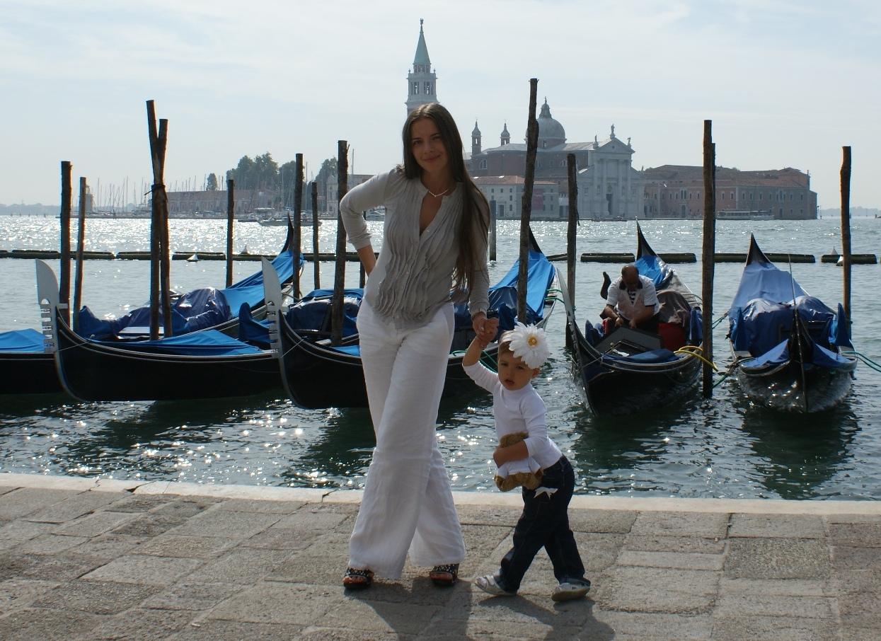 Незабываемая прогулка по Венеции. С мамой на прогулке