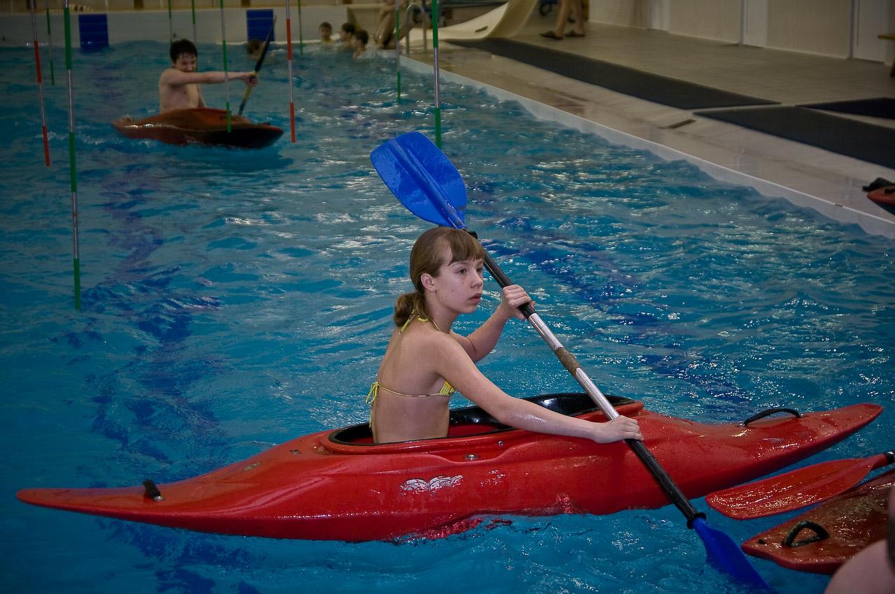 тренировка в бассейне. Моя тренировка