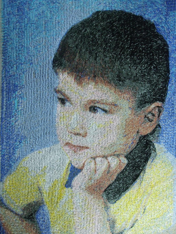 Вышитый портрет. Портреты
