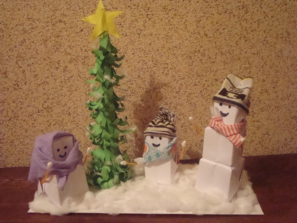 Наши снеговички. Самодельные игрушки